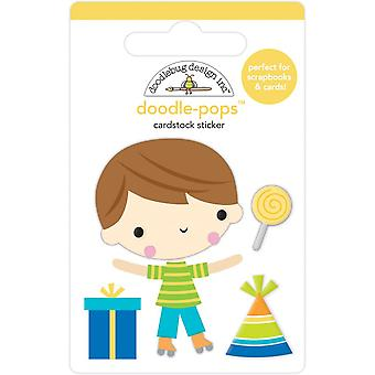 Doodlebug Design Birthday Boy Doodle-Pops