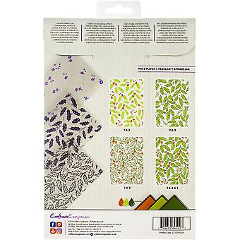 Crafter's Companion Festive Holly Background Layering Stamps