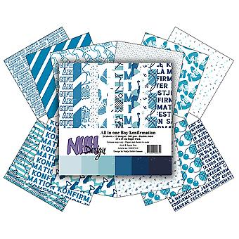 NHH Design All in One Boy Konfirmation 6x6 Inch Paper Pack