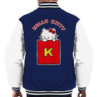 Hello Kitty Yellow K Men's Varsity Jacket