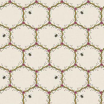 The Chateau by Angel Strawbridge Honeycomb Wallpaper Cream HON/CRE/WP