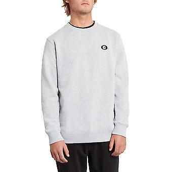 Volcom Men's Crew Neck Sweater ~ Single Stone heather grey