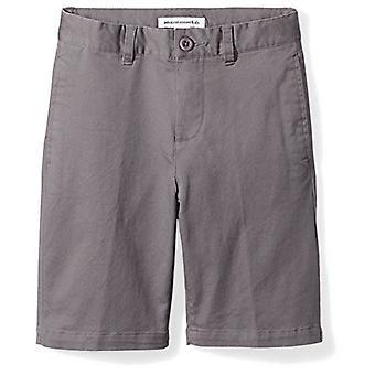 Essentials Big Boysă Flat Front Uniform Chino Short, Gray,8