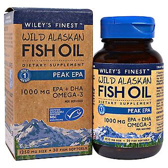 Wiley-apos;s Finest, Huile de poisson sauvage de l'Alaska, Pic EPA, 1 250 mg, 30 Poissons Softgels