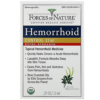Forces of Nature, Hemorrhoid Control,  Extra Strength, 0.37 oz (11 ml)