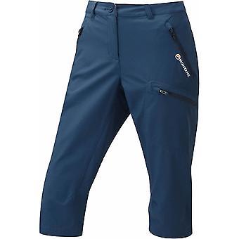 Montane Womens Dyno Stretch Capri Pants UK8/US XS/EUR 34 Narwhal Blue