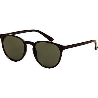 Sunglasses Unisex black with green lens (AZ-2100)