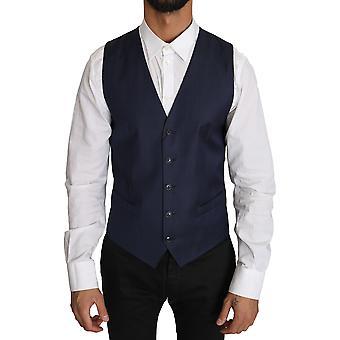 Dolce & Gabbana sininen pisteviiva kuvio nylon liivi liivi TSH2660-46