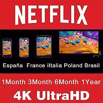 1 سنة حساب Netflix رمز الاشتراك 1 الشهر 4k Netflix بريميوم Abonnement لملصقات التلفزيون الذكي كمبيوتر محمول هاتف محمول