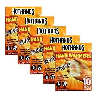5 x 2pcs Hand Warmers 10 hrs Heat Winter Travel Walking Sport Quick Easy
