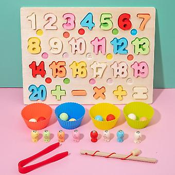 Wooden 26 Alphabet Mathematics Intelligence Development Toy
