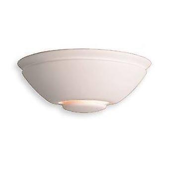 1 Light Ceramic Indoor Wall Uplighter - 100W Unglazed, E27