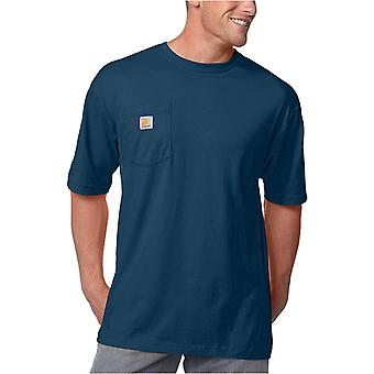 Carhartt Men's K87 Workwear Pocket Short Sleeve T-shirt, Navy, Size X-Large Tall