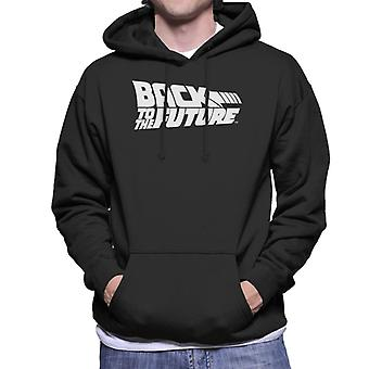 Back to the Future White Logo Men's Hooded Sweatshirt
