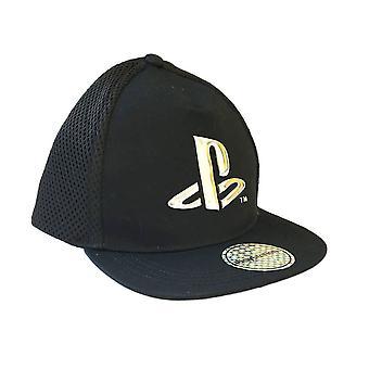 PlayStation Logo Black Snapback Cap