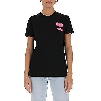 Chiara Ferragni Cft095blk Women-apos;s Black Cotton T-shirt