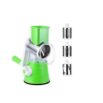 Multifunctional Manual Vegetable Spiral Chopper Slicer Cheese Grater, Vegetable