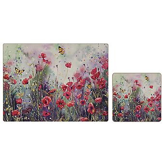 iStyle Poppy Field Placemats and Coasters