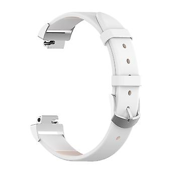 For Fitbit Inspire / Inspire HR Band Genuine Leather Replacement Wristband Strap[White]