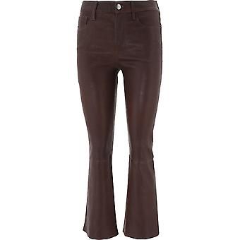 Frame Lwlt0430espresso Women's Brown Leather Pants