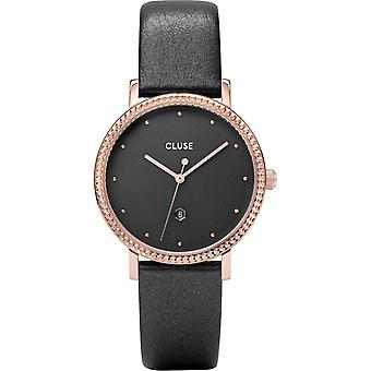 Cluse Cw0101209007 Le Couronnement Rose Gold & Dark Grey Leather Ladies Watch