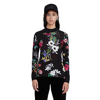 Desigual Indiana Tropical Bright Floral T-shirt 20WWTKAA Black