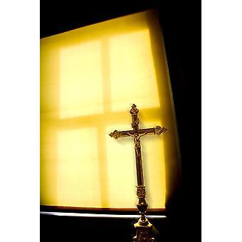 Crucifix Next To A Window PosterPrint