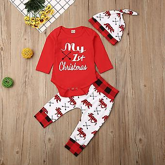 Christmas Letter Pant, Hat, Outfits For Baby,