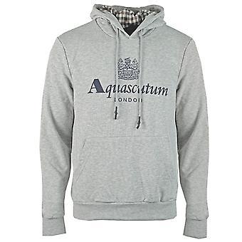 Aquascutum Waterfield Logo Gri Hoodie