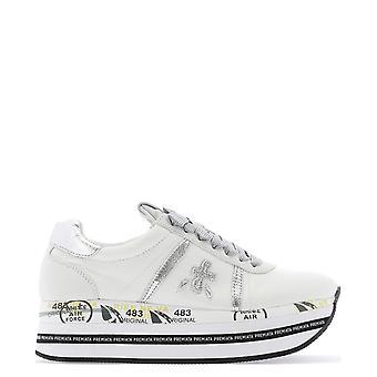 Premiata Beth4517 Women's White Leather Sneakers