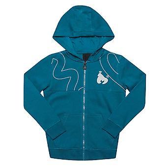 Boy's Money Junior Massive Sig Zip Hoody in Blue