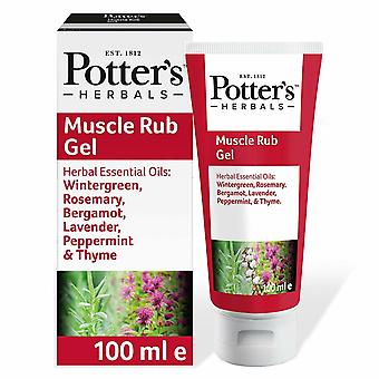 Potter's Herbals Soothing & Lasting Revitalizing Effect Muscle Rub Gel 100ml