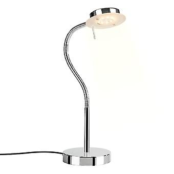 Italux Sergio - Moderno LED Table Lamp Chrome, Branco Quente 3000K 340lm