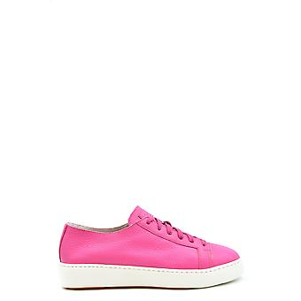 Santoni Ezbc023022 Women's Fuchsia Leather Sneakers