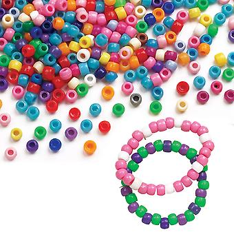 Baker ross coloured beads (pack of 600) for kids arts and crafts