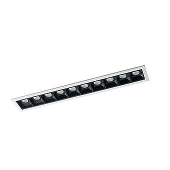 LED Aluminium Verzonken 10 Light Downlight Anti Glare, Wit, Zwart, 4000K, 2W