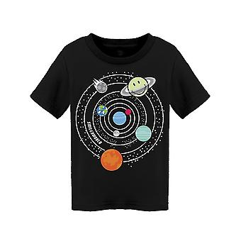 SmileyWorld Space Planets Happy Face Toddler's T-shirt