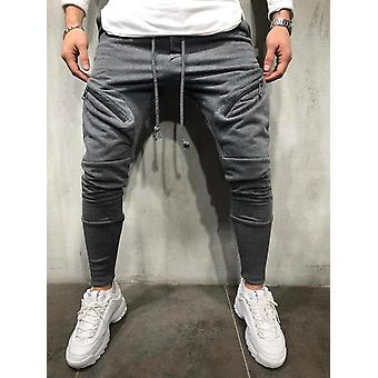 Fashion Hip Pop Pants Mænd Sweatpants Slacks Casual Elastiske Joggings