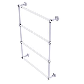 Pacific Beach Collection 4 Tier 24 Inch Ladder Towel Bar With Twisted Accents - Oil Rubbed Bronze