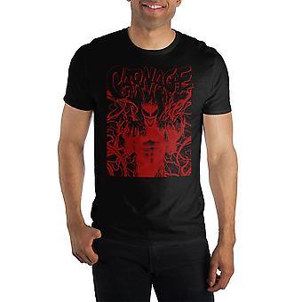 Carnage marvel comics men's packaged shirt