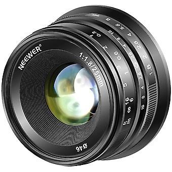 25mm f/1.8 Manual Focus Prime Fixed Lens for Fujifilm APS-C Digital Cameras