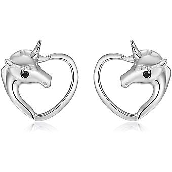 Qings Unicorn Stud Earrings Girls 925 Sterling Silver for Women Daughter Teen