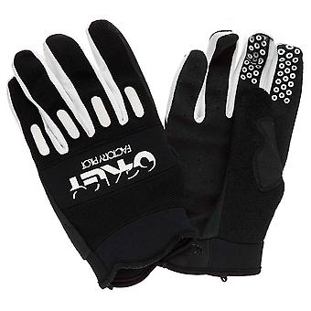 Oakley Mens Factory Cycling Sports Casual Gloves Black White 94048 001
