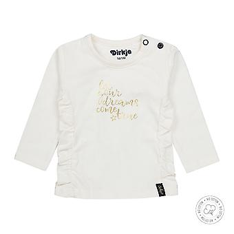 Dirkje Girls Tshirt Let Your Dreams Come True Off White