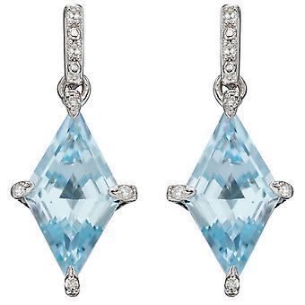 Boucles d'oreilles Topaz en forme de cerf-volant en or éléments - Or Bleu/Blanc