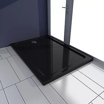 vidaXL Shower Cup ABS Rectangular Black 70×100 cm