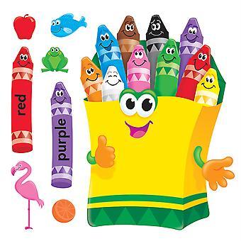 Set di bacheche dei pastelli colorati