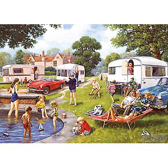 Gibsons Jigsaw Puzzle Caravan Outings 2 x 500 Pieces