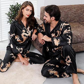 Couple Silk Satin Pyjamas Set