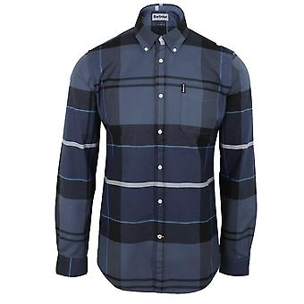 Barbour men's sutherland inky blue shirt